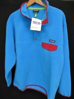 Patagonia Synchilla Blue Snap-T Pullover Fleece Jacket Large NWT