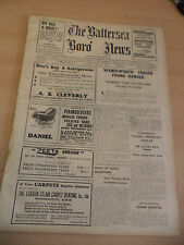THE BATTERSEA BORO NEWS OLD ANTIQUE ORIG LONDON NEWSPAPER 22 may 1936 history