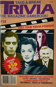 Trivia 1985 Vtg Magazine Game Book #12 Movies Celebrities Bo Derek Carson NOS