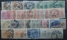 32 sauber gestempelte Dienstmarken Schweden aus Nr. 1 - 11