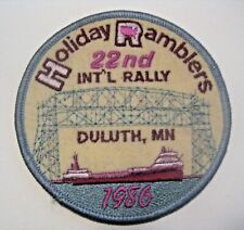 NOS UNSEWN VINTAGE 1986 DULUTH MINNESOTA AIRSTREAM INTERNATIONAL RALLY PATCH