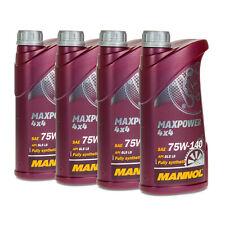 4 (4x1) Liter MANNOL Maxpower 4x4 SAE 75W-140 API GL 5