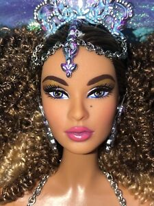 Luciana Barbie Doll Global Glamour Model Muse # DGW47 Brazil Bodysuit Curly Hair