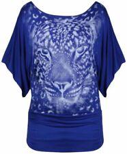 Camisas y tops de mujer de manga corta color principal azul de viscosa/rayón