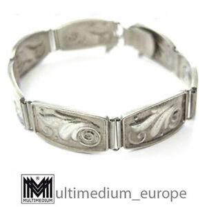 Art Deco Designer Armband Silber 835 signiert O.H. Handarbeit