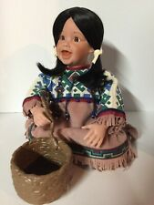 "Danbury Mint Native Doll ""Spring Blossom"" by FayZah Spanos"