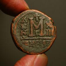 B12-25 BYZANTINE  Maurice Tiberius 582-602AD    Æ Follis   Antioch mint, year 13