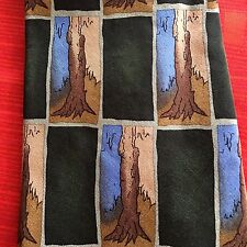 J Garcia Tie RN 62830 Collectors Ed. 100% Silk  Trees on Green Background SHORT