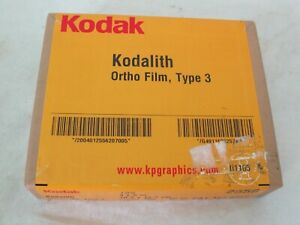 "Kodak Graphic Arts Film 100ct Kodalith Ortho Film type 3 2556 4x5"" 1636257"