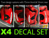 Brake Decal Sticker for Mini Cooper S works caliper front or rear option set