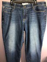 Sonoma Plus Size 18W Jeans Blue Denim Mid Rise Curvy Bootcut Stretch BC05