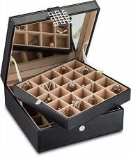 Earring organizer Holder -50 Slot Jewelry Box / Case / Holder for Earrings Black