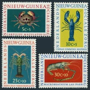 Neth New Guinea B31-B34, MNH. Michel 78-81 Crab, Spiny lobster, Shrimp. 1962.