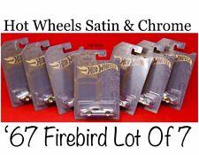 2019 Hot Wheels Satin & Chrome Custom '67 Pontiac Firebird Lot Of 7 Cars