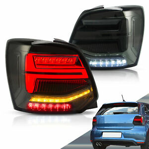 LED Tail lights For Volkswagen (VW) Polo 2009-17 Turn Signal W/Sequential Smoke