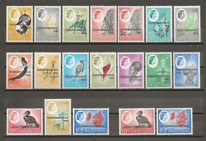 SWAZILAND 1968 SG 142/60 MNH Cat £32