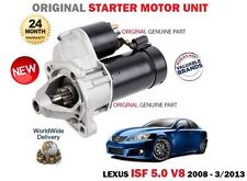 FOR LEXUS ISF 5.0 V8 423bhp 2UR-GSE 2007-2013 NEW ORIGINAL STARTER MOTOR UNIT
