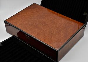 Pen Storage Case Palisander for 33 pens Made in France 40 x 27 x 9 cm Elie Bleu?