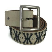 """Hollywood Trading Company HTC Men's Studded Leather Belt Cowboy Western Size 34"""""""
