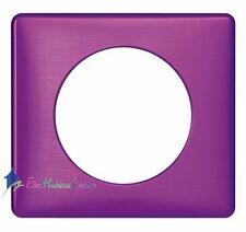 Plaque simple métal Céliane violet irisé Legrand 68711