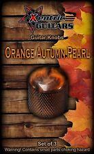 XGK151 Orange Autumn Pearl Guitar Knobs (3)