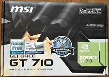 MSI GeForce GT 710 2 Go DDR3 - GT 710 2GD3H LP
