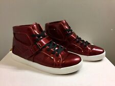 🚀🚀 SUPRA NS TRINITY Red Burgundy Patent Leather 11 Sneakers Shoes Mid