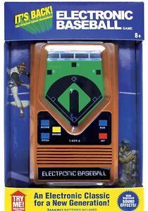 Electronic Baseball Classic Handheld Game Mattel 70s Retro Style Video Console