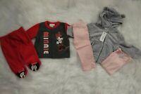 Baby Girls 2 Piece fleece Minnie Set 0-3 Mo Gymboree 3 Piece Outfit 6-12 mo NWT