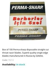 Perma Sharp Professional  Single Edge Razor Blades  Pro Straight Edge 20 packs