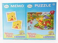 Lot 31627 | Clementoni Winnie the Pooh Puzzle 60 pezzi + MEMO GIOCO NUOVO IN SCATOLA ORIGINALE