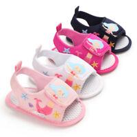 Newborn Baby Girls Crib Shoes Soft Infant Mermaid Summer Sandals Inhouse Shoes