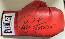 George Foreman Signed Beckett & GF Certified Boxing Glove Red NR!