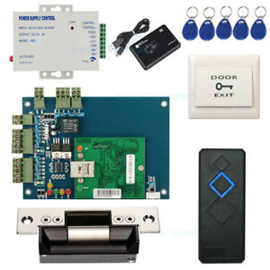 Single Door Network Access Control Board Controller ANSI Strike Lock RFID Reader