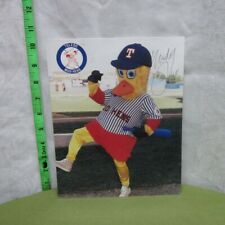 TOLEDO MUD HENS autograph glossy photo Muddy hand-signed mascot