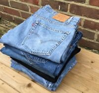 MEN`S VINTAGE LEVI`S 505 GRADE A STRAIGHT LEG DENIM JEANS REGULAR FIT