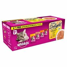 Whiskas 1+ Cat Pouch Pure Delight Poultry Jelly 40 for 36 (85g) - 262129