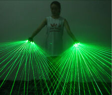 Chargeable GREEN laser gloves handheld Laser Show Lighting Party Event Supplies