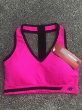BNWT New Balance Hot Pink Racer Back Vest Sports Bra Size Large STUNNING