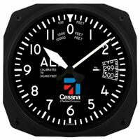 "6"" Cessna Aircraft Altimeter Instrument Style Aviation-Style Clock  ORB-0116-B"