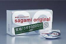 NEW Sagami Original 002 12 pieces Non Latex Condom Regular Ultra Thin 0.02mm JP