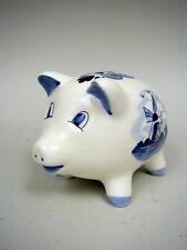 Handpainted Delft Blue Piggy Bank by ©D.A.I.C.