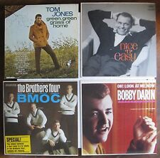4 Records SINATRA Bobby Darin TOM JONES The Brothers Four (ca. 1960's) Nice!