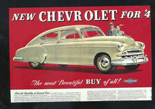 1949 CHEVROLET STYLELINE CAR DEALER ADVERTISING POSTCARD COPY '49 CHEVY