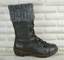 EL NATURALISTA Yggdrasil Womens Grey Leather Mid-Calf  Boots Size 6 UK 39 EU