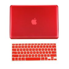 """2 in 1 RED Crystal Hard Case Cover for Macbook PRO 15"""" A1286 with Keyboard Cover"""
