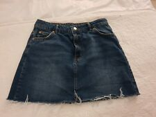 Topshop Raw Hem Denim Skirt size 12