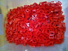 Lego Red Tile Modified 1X2 Handle 50 Pieces NEW