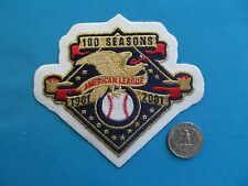 1901-2001 AMERICAN LEAGUE BASEBALL 100TH YANKEES RED SOX MLB PATCH CREST EMBLEM