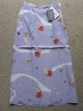 NEW Fab !! Antipodium Cosmic Rose Manifesto Wrap Lilac Silk Skirt Size: UK 8